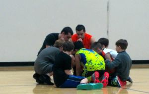 First basketball practice